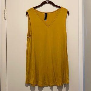 Mustard yellow v neck tank